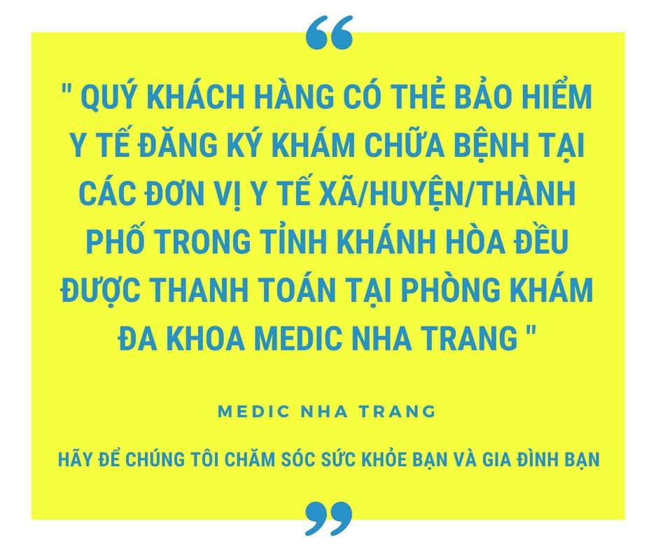 Phòng Khám Đa Khoa MEDIC NHA TRANG Khám chữa bệnh Bảo hiểm y tế